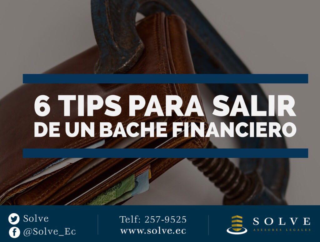 6 tips para salir de un bache financiero.