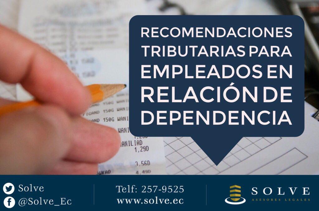 Impuesto a la Renta para empleados en relación de dependencia.