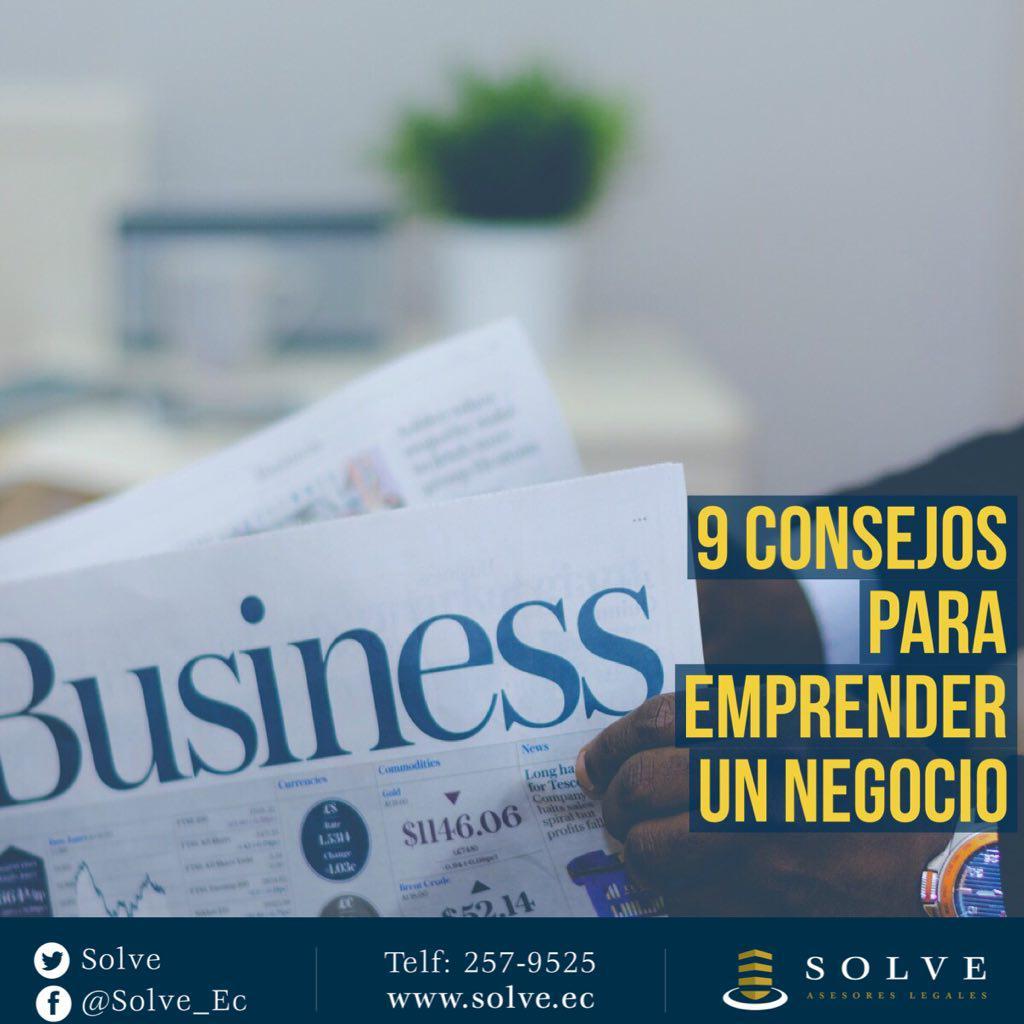 9 consejos para emprender un negocio