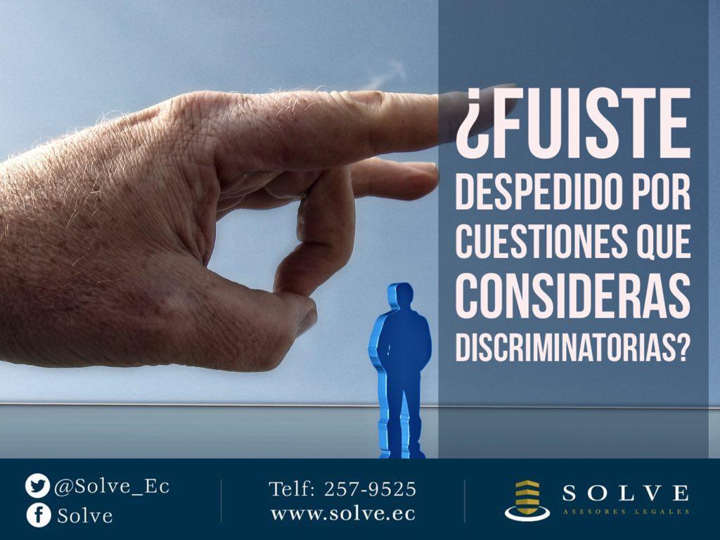 ¿Fuiste despedido por cuestiones que consideras discriminatorias?